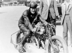 Brough Superior. Eric Fernihough. Brooklands lap record holder .Photo (a)